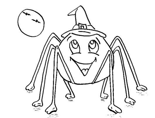 creepy spiders coloring pages - photo#41