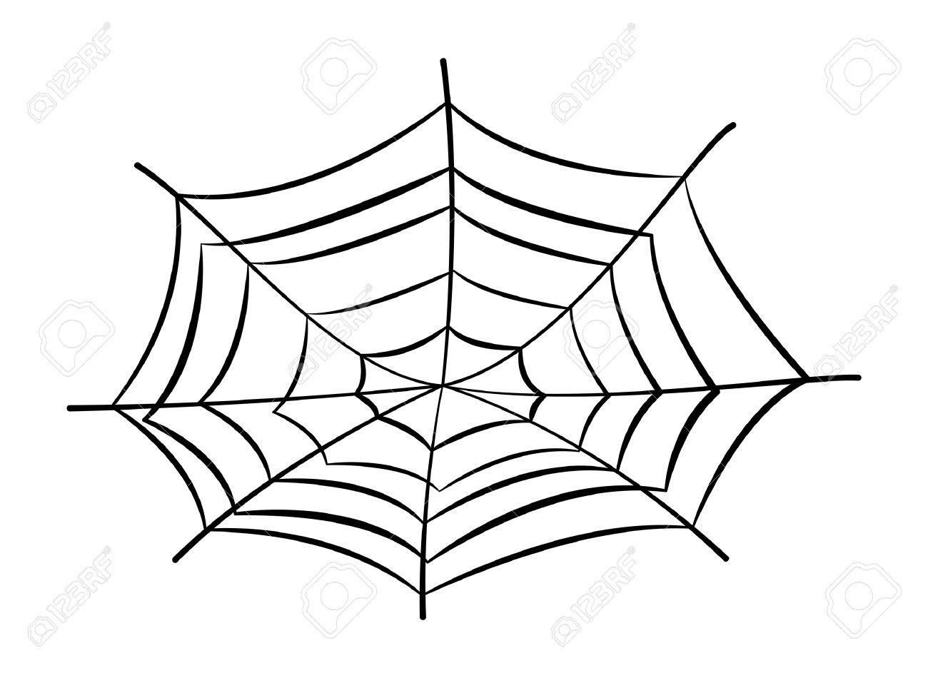 1300x950 Spider Web Cartoon Drawing Spider Web Cartoon