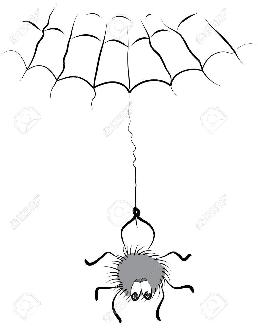 1016x1300 Cartoon Spider Drawing Hand Drawing Spider Cartoon Web Halloween