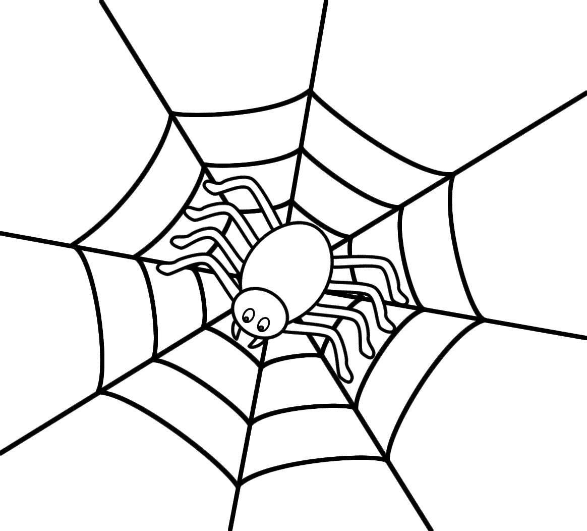 1164x1052 The Brilliant As Well Gorgeous Spider Web Coloring Page Pages