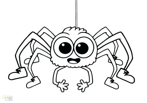 476x333 Spider Coloring Page