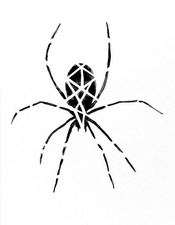 570x735 Drawn Arachnid Halloween Decoration