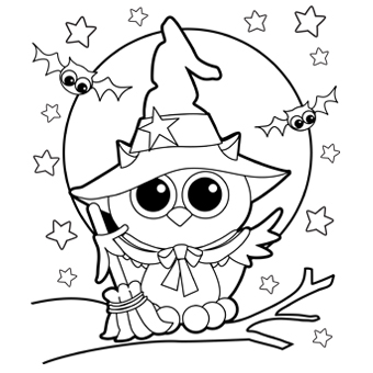 340x340 Halloween Coloring Pages Free Printable Coloring Pages