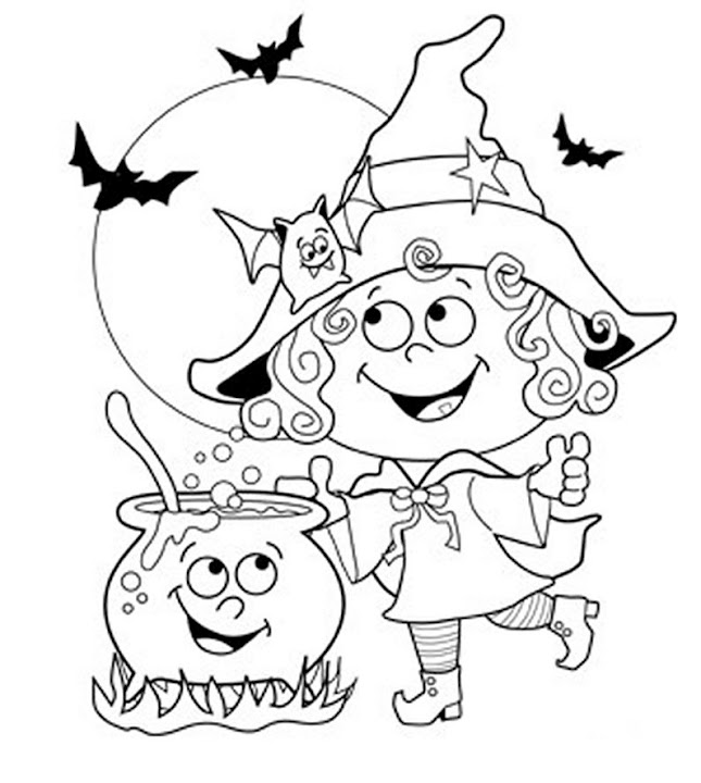 645x720 24 Free Printable Halloween Coloring Pages For Kids