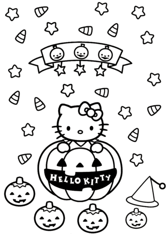 344x480 Hello Kitty Halloween Coloring Page Free Printable Coloring Pages
