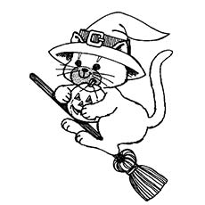 230x230 Top 25 Free Printable Halloween Cat Coloring Pages Online