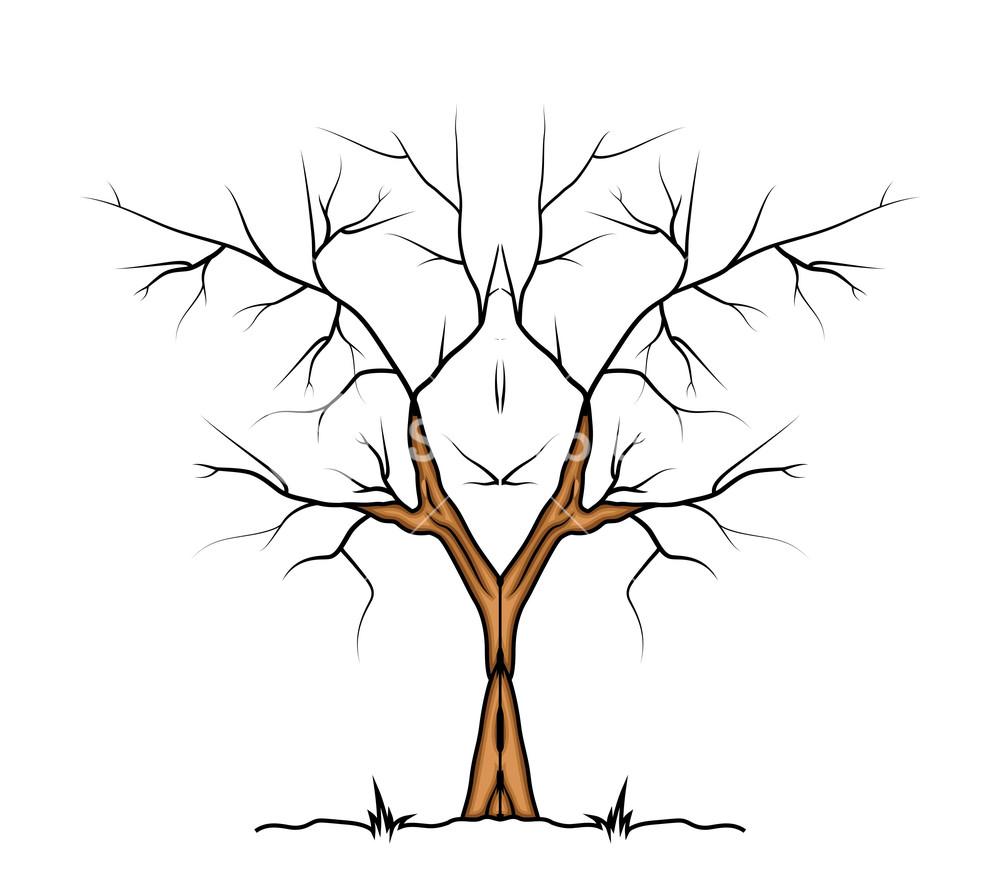 1000x891 Halloween Tree Vector Design Royalty Free Stock Image