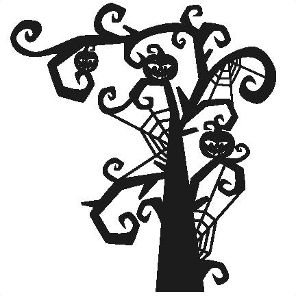 432x432 Tree Svg Scrapbook Title Svg Cutting Files Halloween Svg Cut File