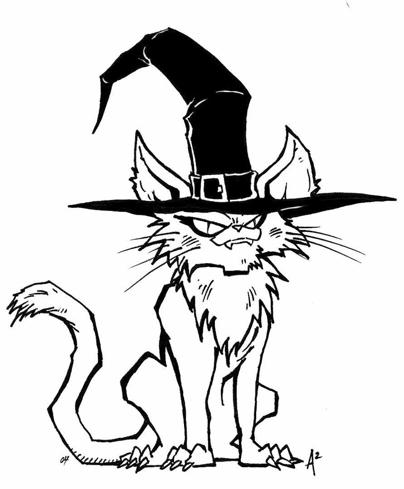 812x983 Halloween Witch Cat By Archermonster On Halloween