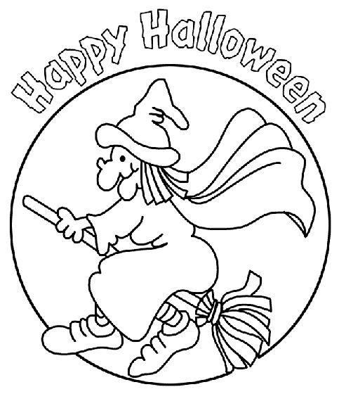 483x560 Easy Halloween Witch Drawing Coloring Pages Entertainmentmesh