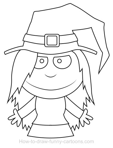 387x506 Drawing A Witch Cartoon