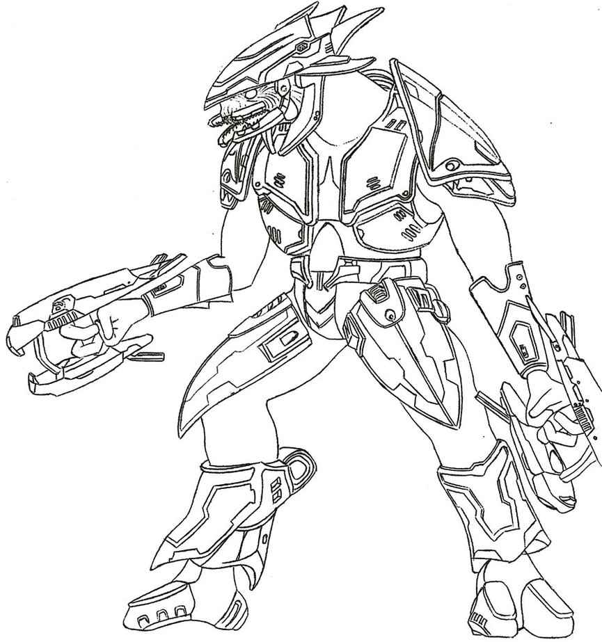 865x923 Halo 3 Elite By Germanwolf44 Lineart Angels