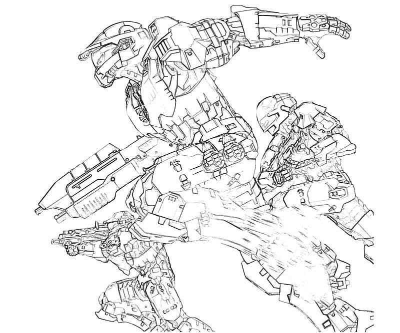 800x667 Halo 3 Odst Coloring Pages Zachary Free Printable