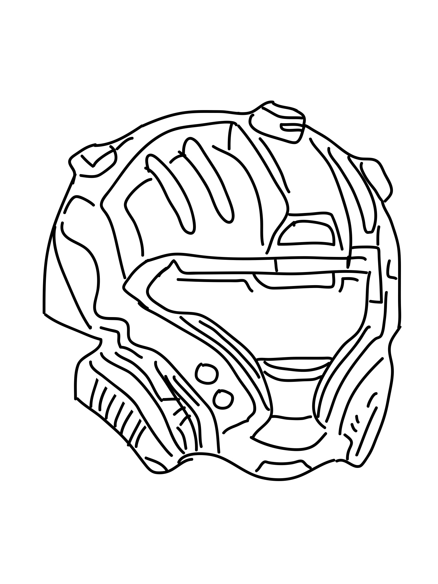 1536x2048 Halo Cqb Helmet Drawings