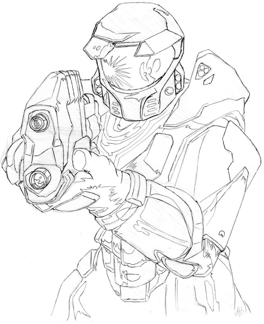 900x1104 Halo Master Chief Coloring Pages