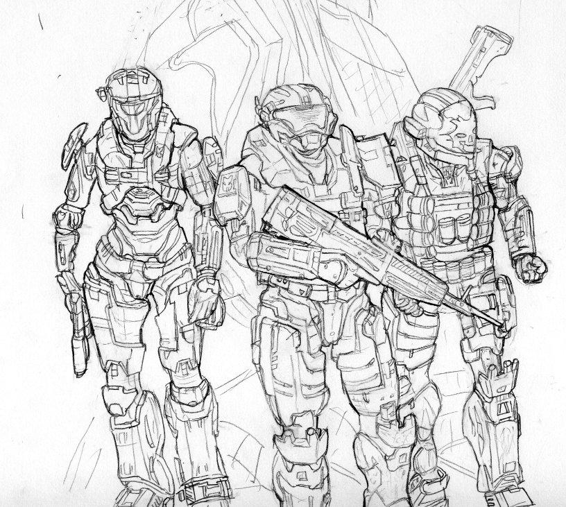 Halo 3 Drawing At GetDrawings