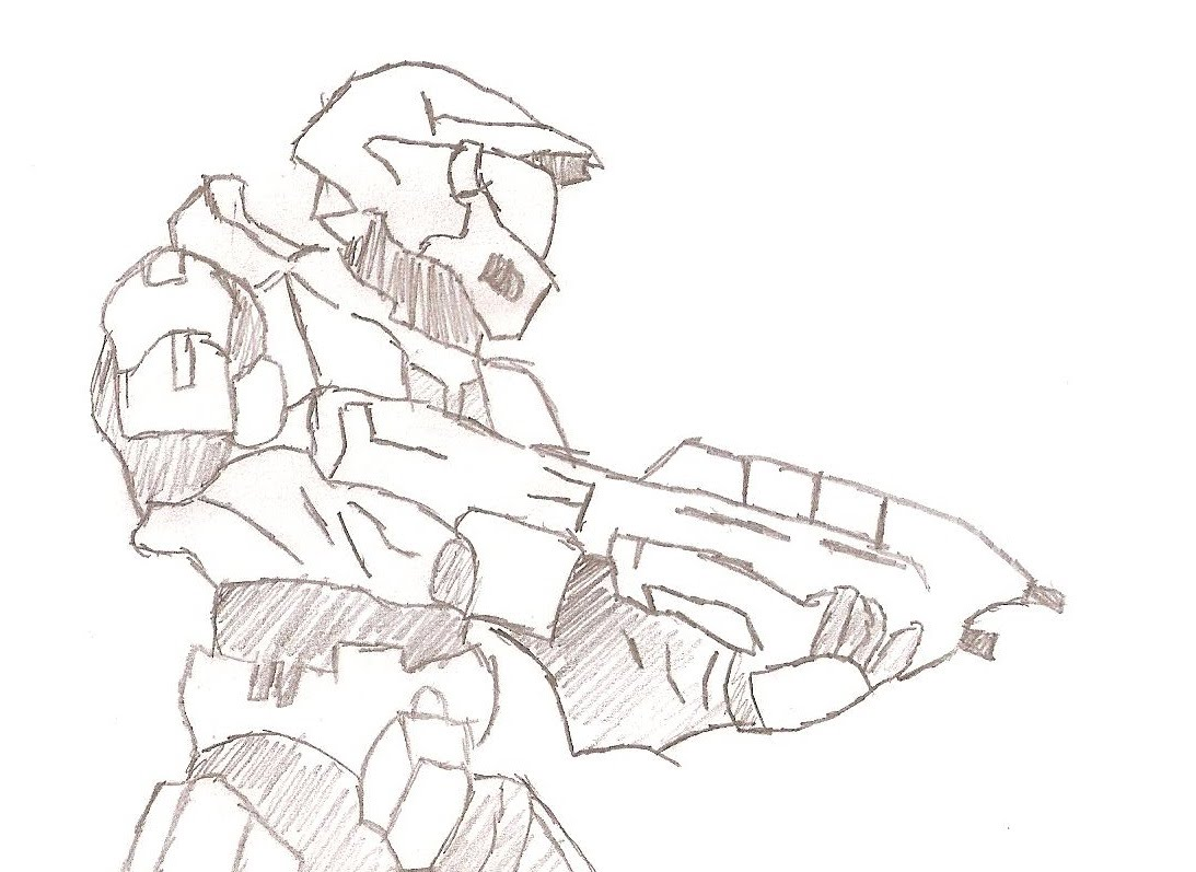1093x797 Hand Drawn Animation Master Chief Halo 3