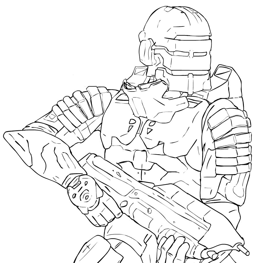 896x914 The Deadliest Halo 3 Armor By Methados