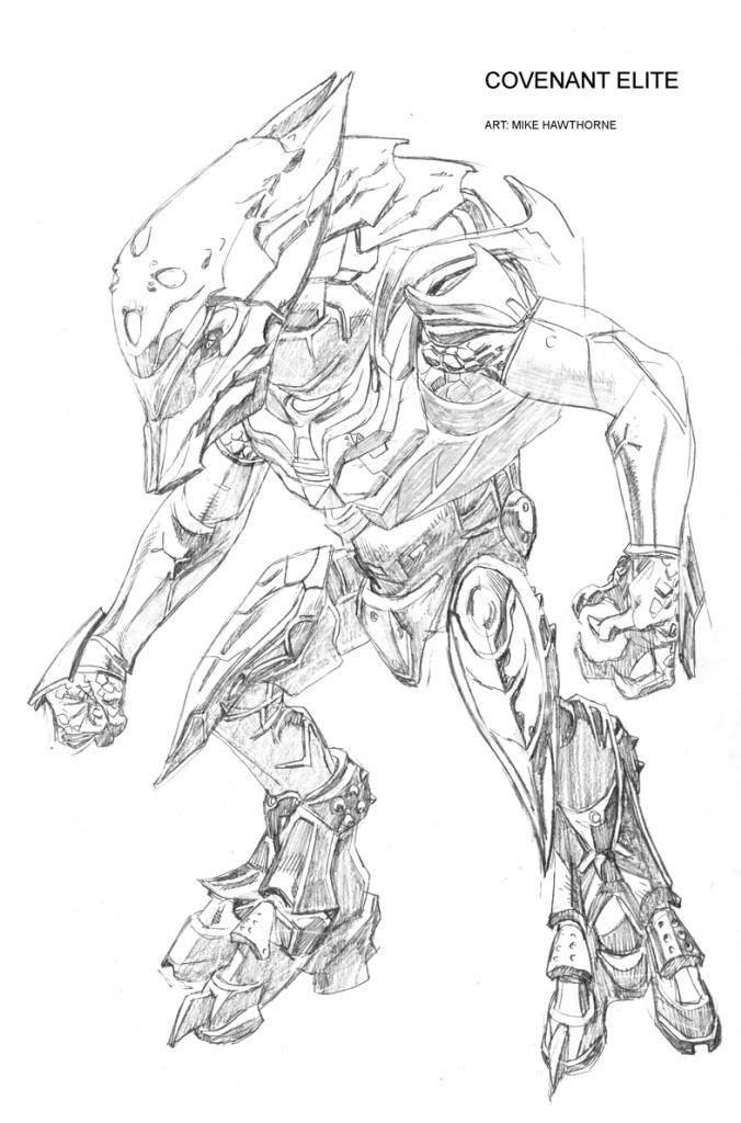 Halo 4 Drawing