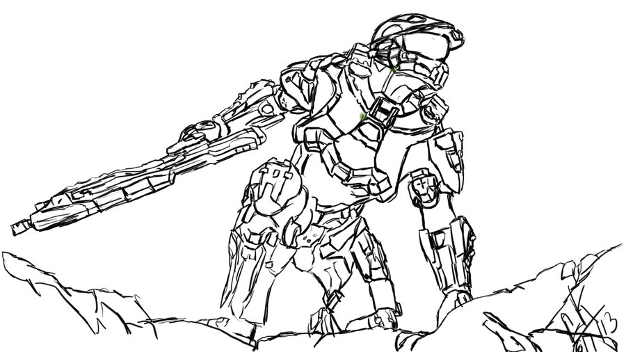 900x506 Halo 4 Photoshop Sketch By Jafetator