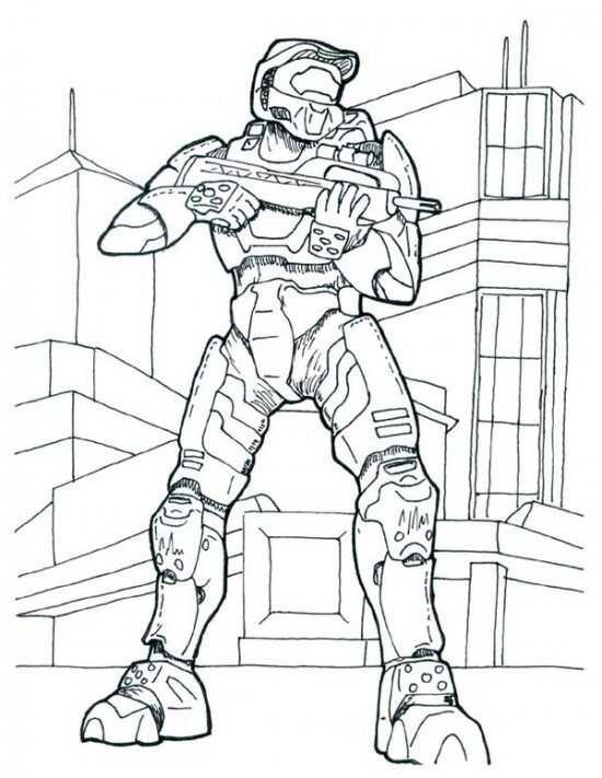 550x711 Printable Halo Coloring Pages For Kids For The Kid