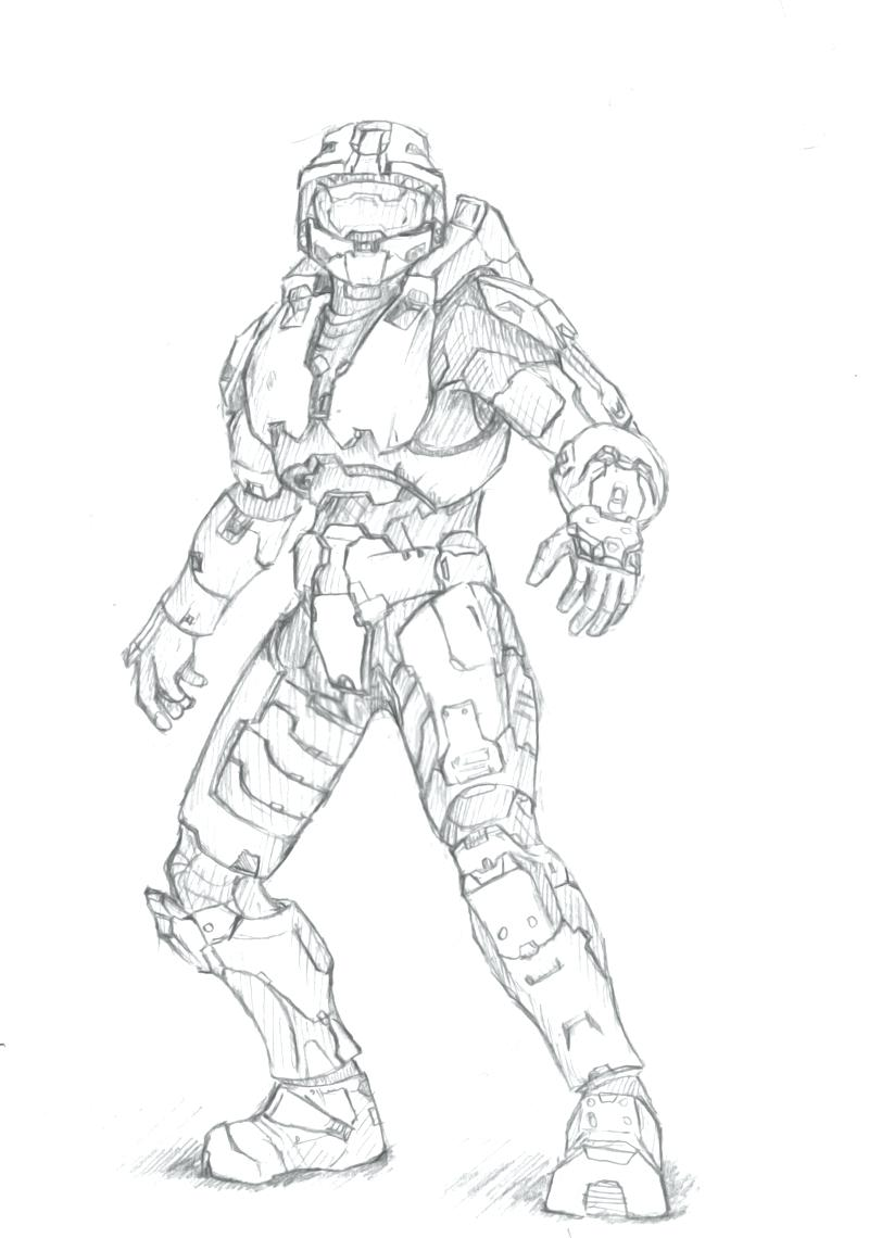 800x1140 Coloring Master Chief Coloring Pages Halo 4 Drawing. Master Chief