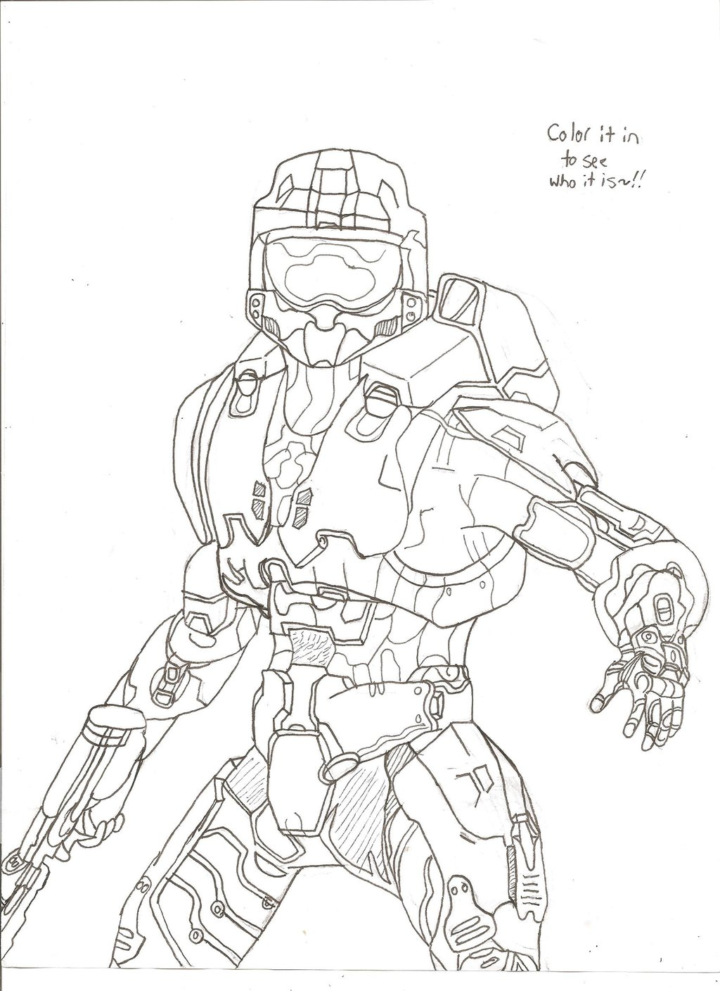 1024x1408 Halo Master Chief (Color Him In!) By Unsunkenhedgehog101