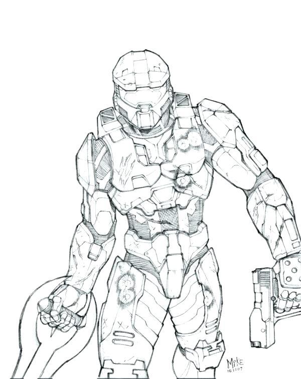 Halo 4 Master Chief Drawing At Getdrawings Com