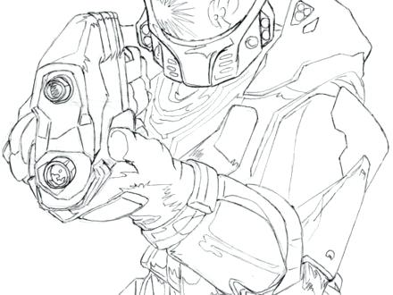 440x330 Halo Master Chief Coloring Pages Pencil Of Halo 4 Master Chief