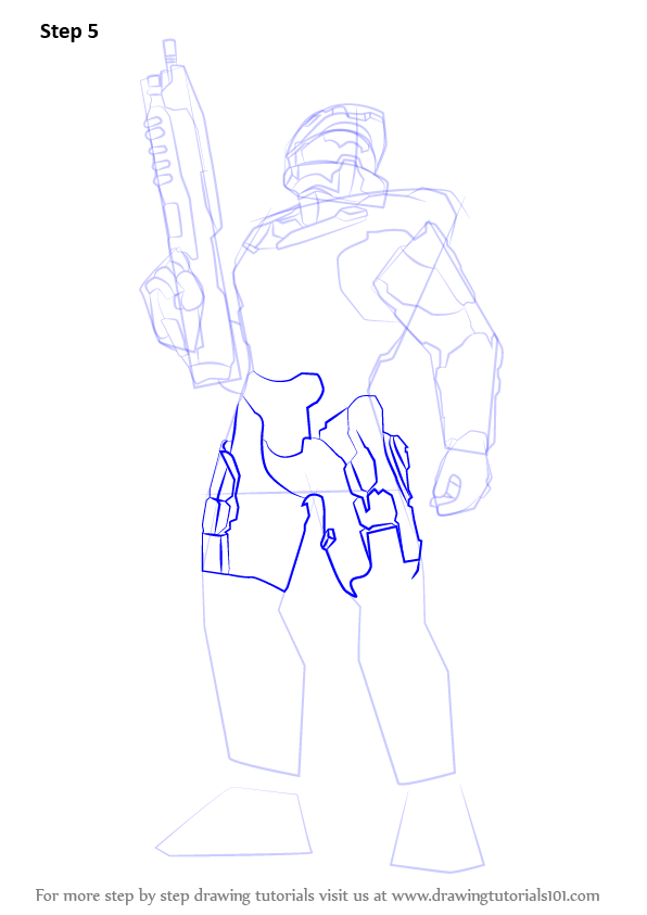 596x843 Learn How To Draw Master Chief From Halo (Halo) Step By Step