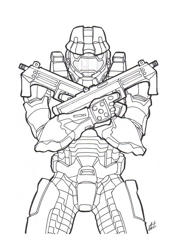 621x866 Master Chief By On @ Halo