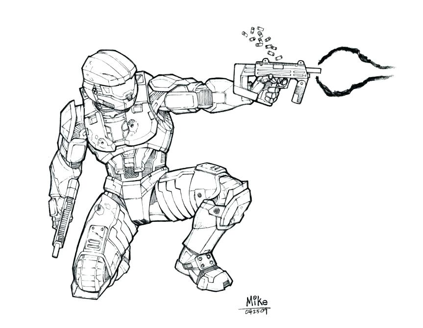 863x670 Master Chief Coloring Pages Line Drawings To Paint Free Printable