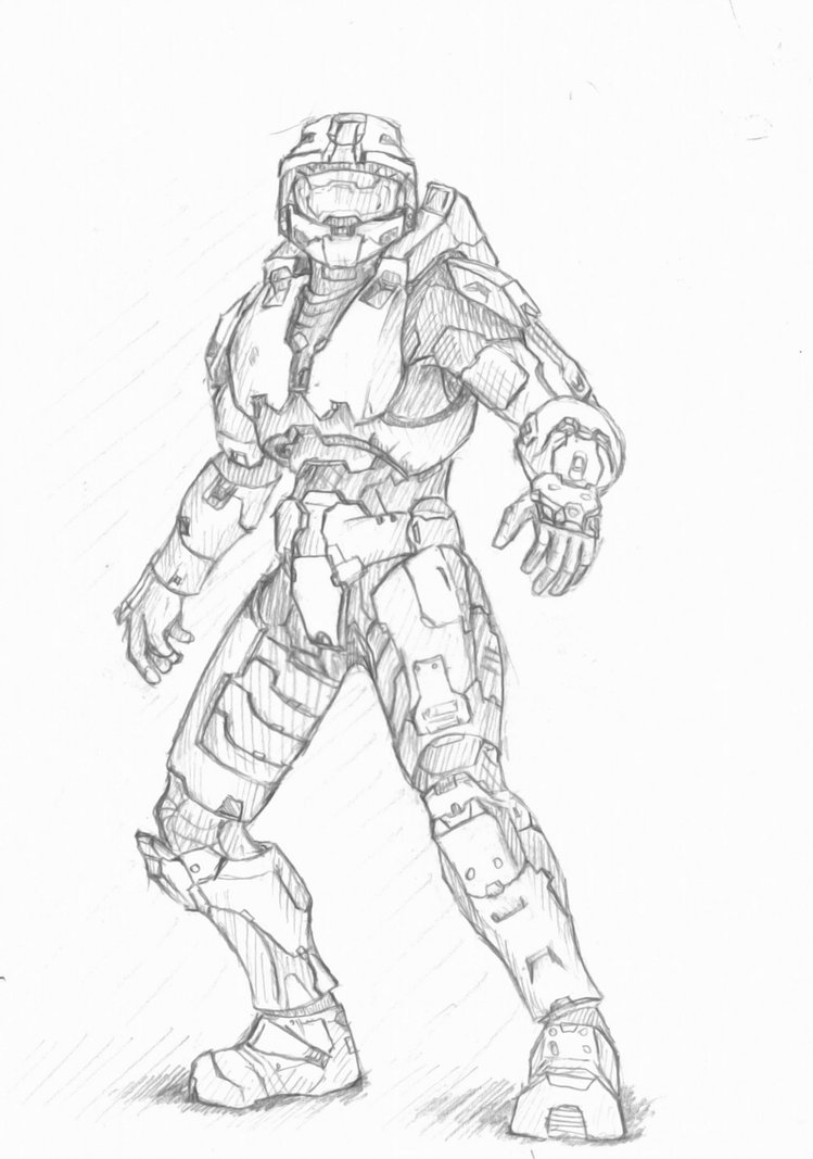 749x1067 Master Chief Sketch By Imbrokeru