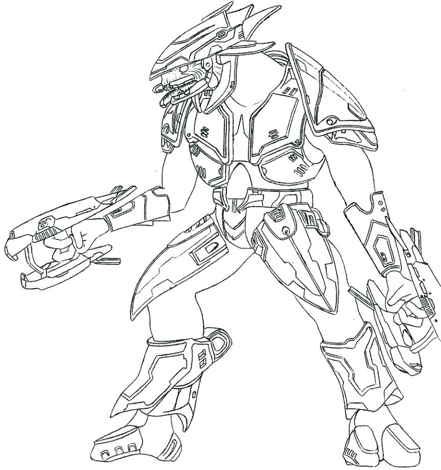 863x921 Coloring Master Chief Coloring Pages Halo 4 Gun 3 To Print Free