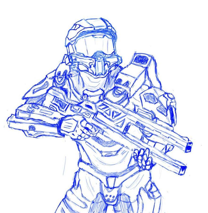 883x905 Halo 4 Master Chief Wide Copiar 1 By Ensyone