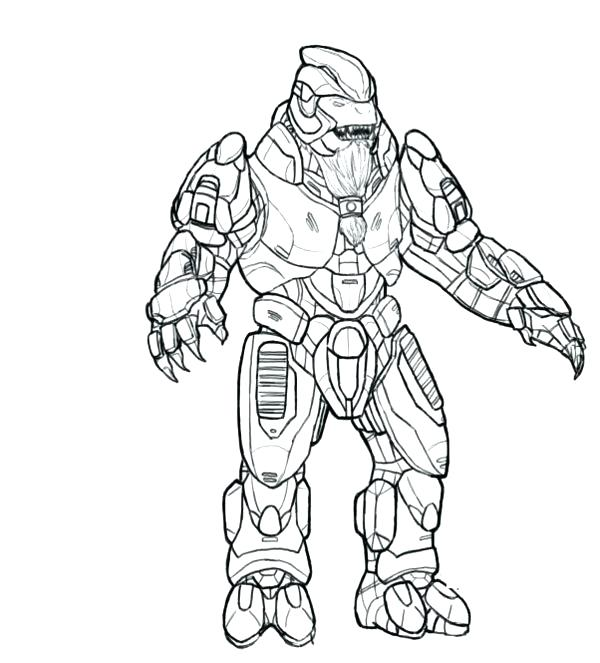 600x663 Master Chief Coloring Pages