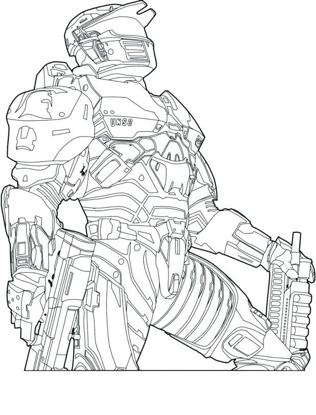618x811 Free Halo 4 Coloring Pages Master Chief Sketch Extraordinary