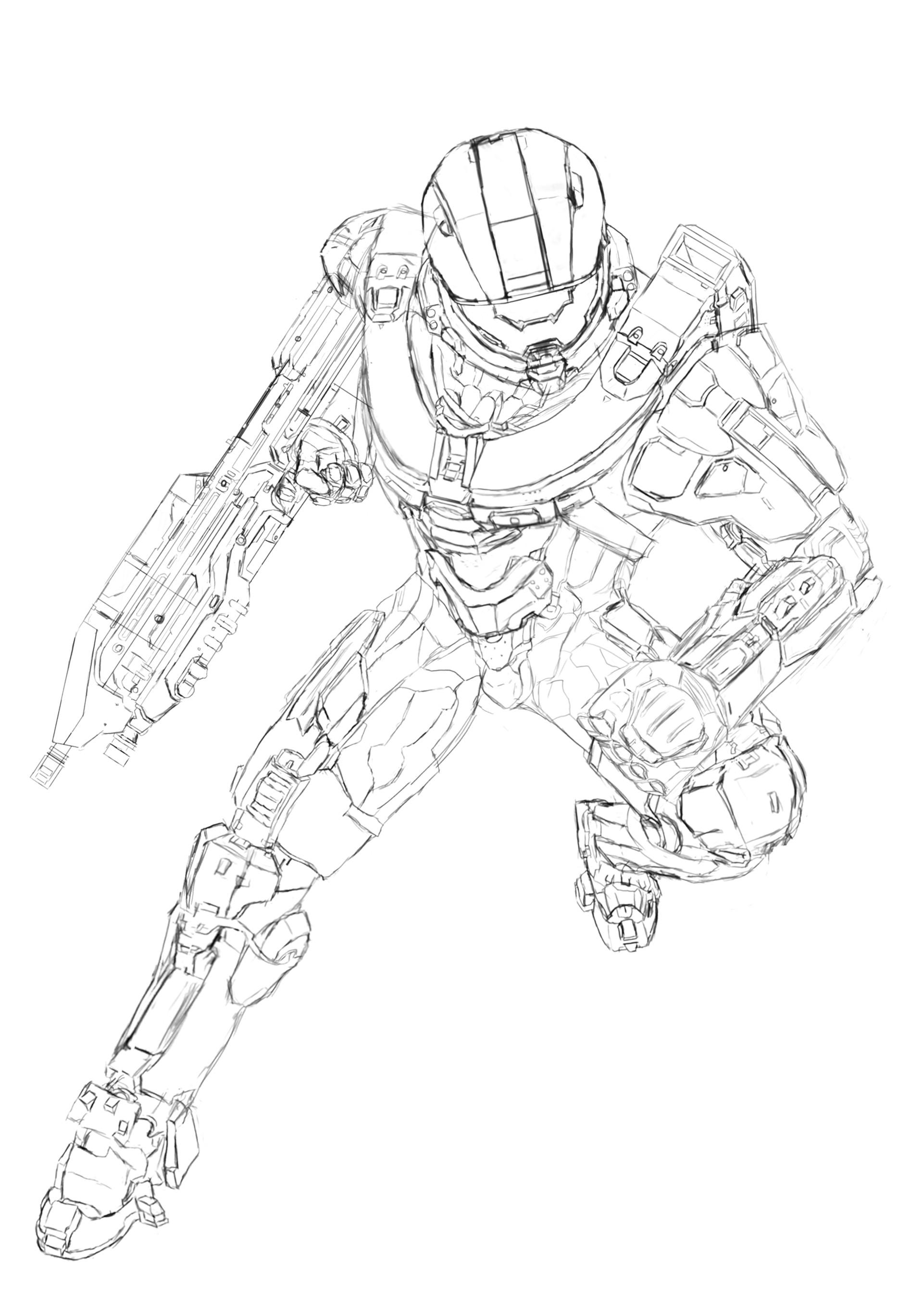 Halo 5 Drawing