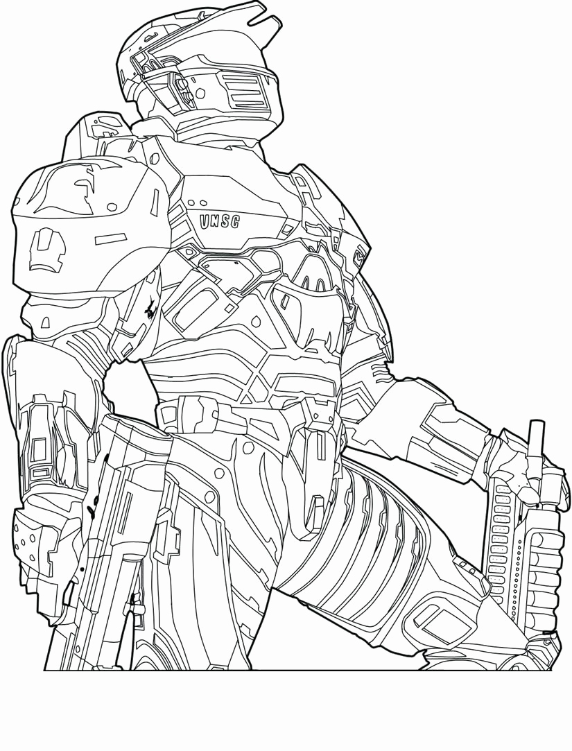 825x1083 Cool Halo 5 Coloring Pages Contemporary