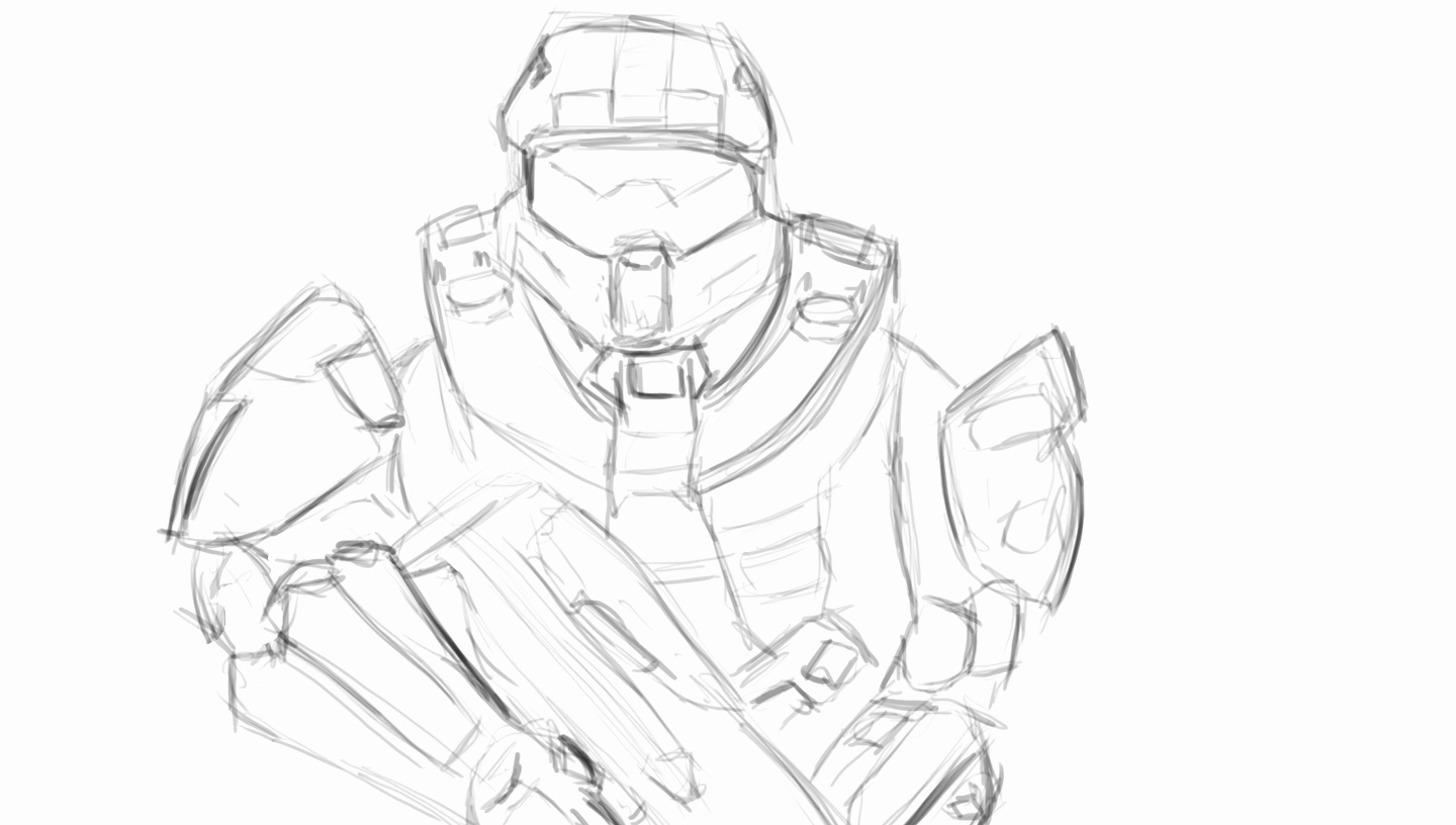 Halo 5 Drawing at GetDrawings.com | Free for personal use Halo 5 ...