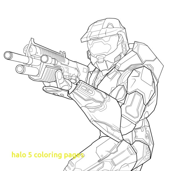 600x600 Halo 5 Coloring Pages With Easy To Color Free Printable Halo
