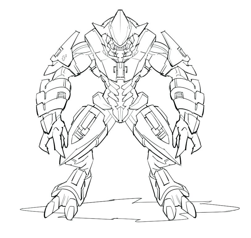 813x771 Halo Coloring Pages Halo Coloring Pages And Book Halo 5 Coloring