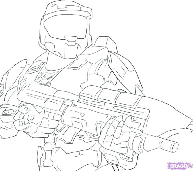 678x600 Halo Master Chief Coloring Pages Master Chief Halo 3 Halo 5 Master