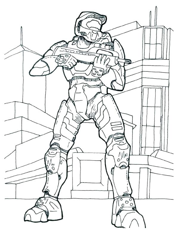 600x776 Beautiful Halo Coloring Pages Or Halo Coloring Pages Picture 29