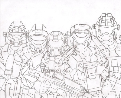 400x322 Halo Reach Female Coloring How To Draw Spartan Helmet