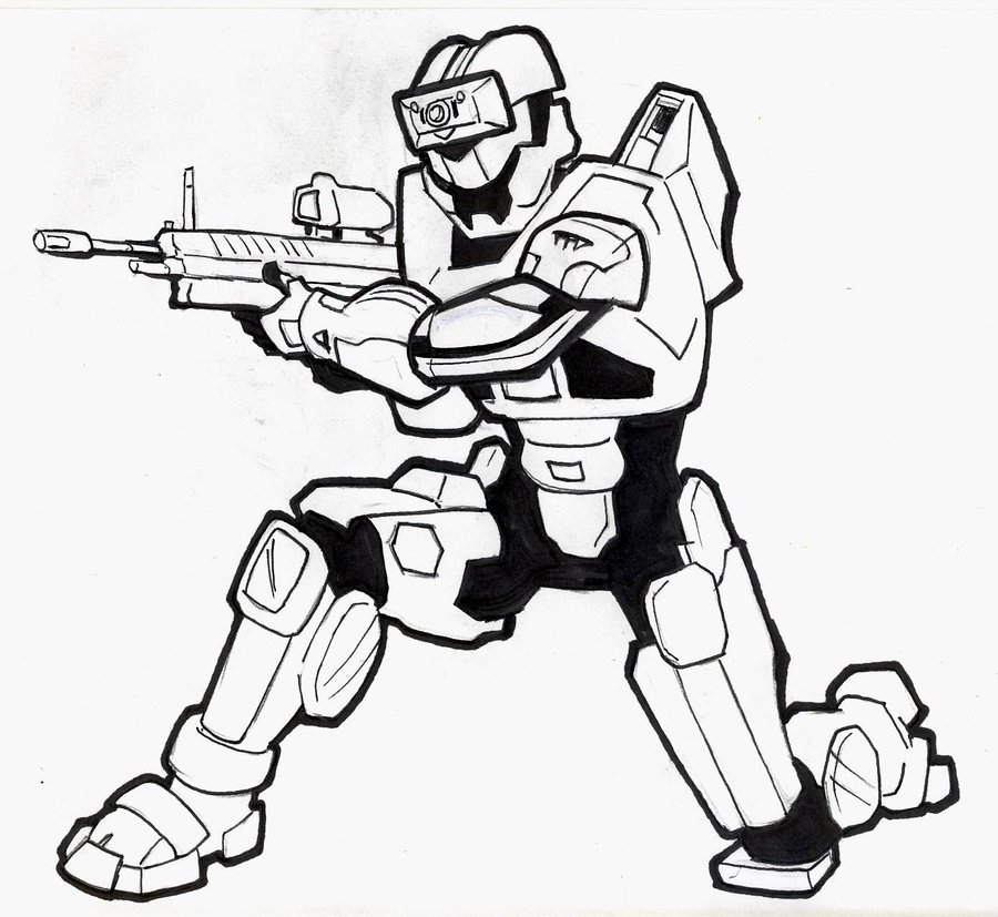 900x827 Halo Spartan Commission 2