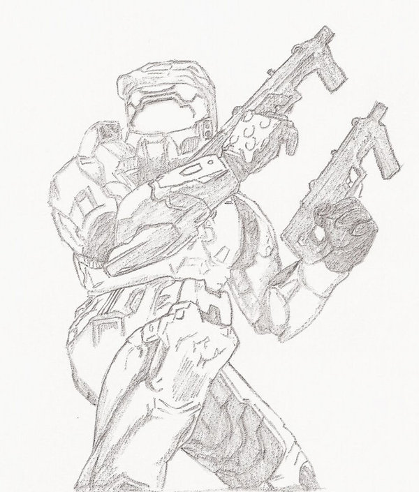 600x705 Master Chief Halo By Gg Lover
