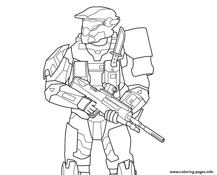 Atemberaubend Halo Master Chief Malvorlagen Bilder ...