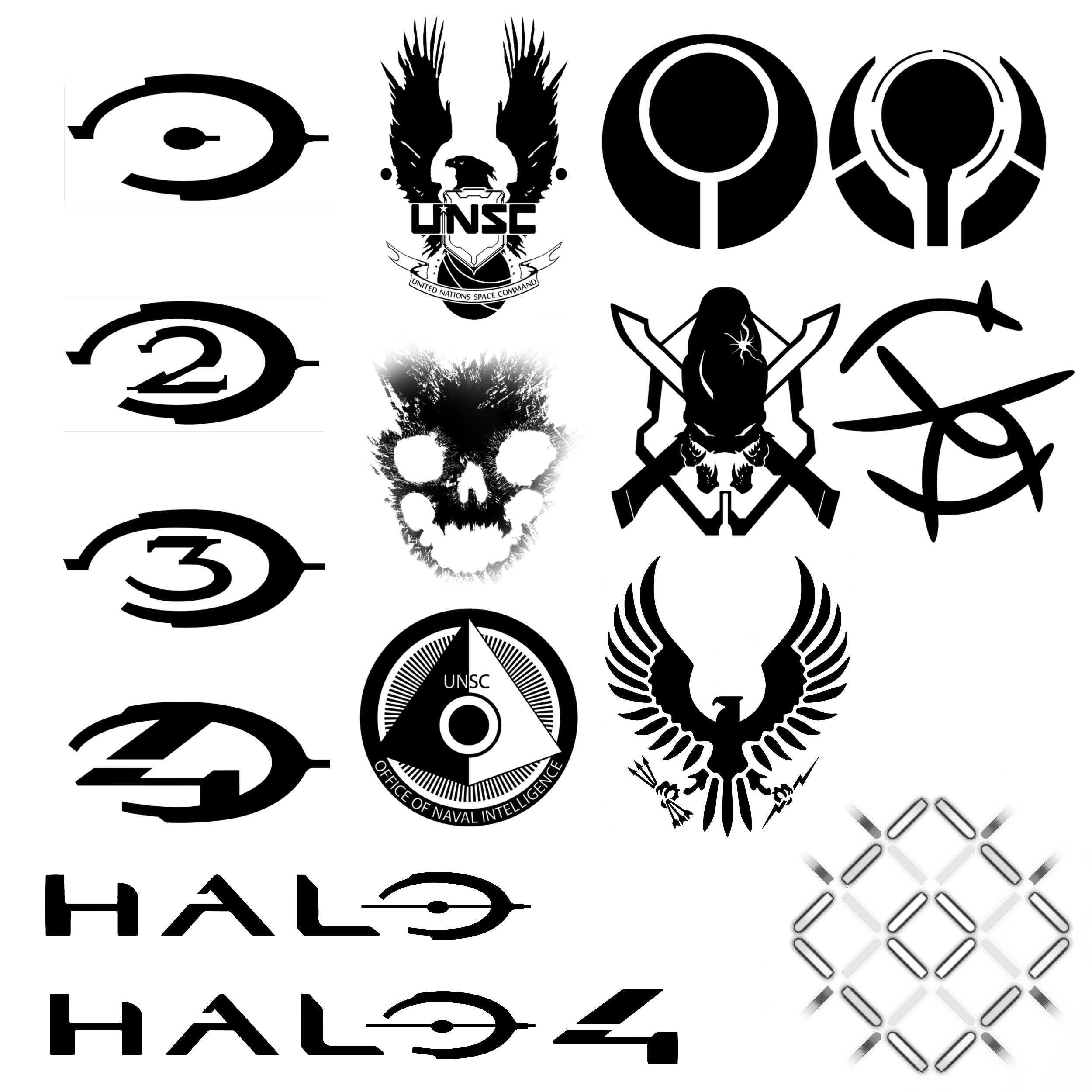 2500x2500 15 Hi Def Halo Themed Brushes By Nick004