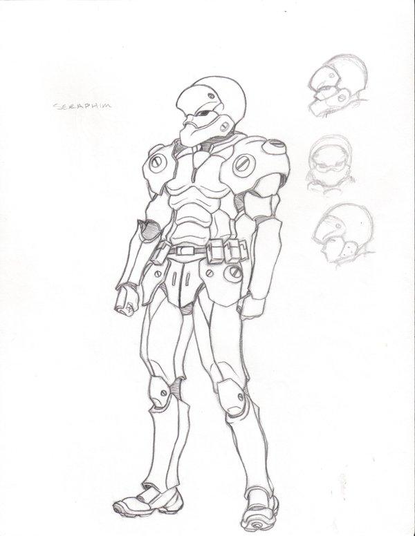 600x776 Futuristic Body Armor By Suldae